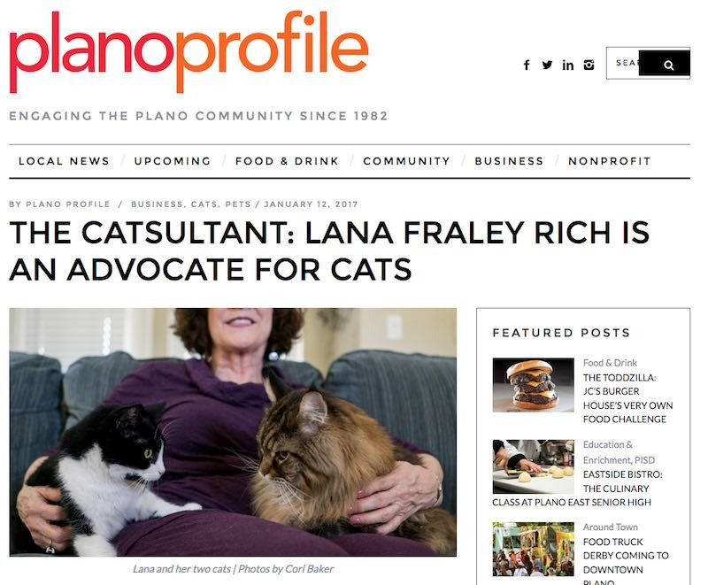 Lana Fraley Rich, The Catsultant in PlanoProfile